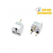 image of Travel Adapter International Multi to UK 3 pin plug Converter