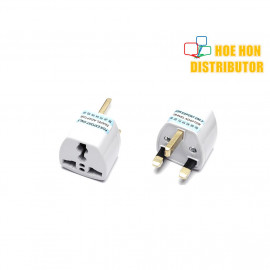 image of Travel Adapter International Multi to UK 3 pin plug Converter