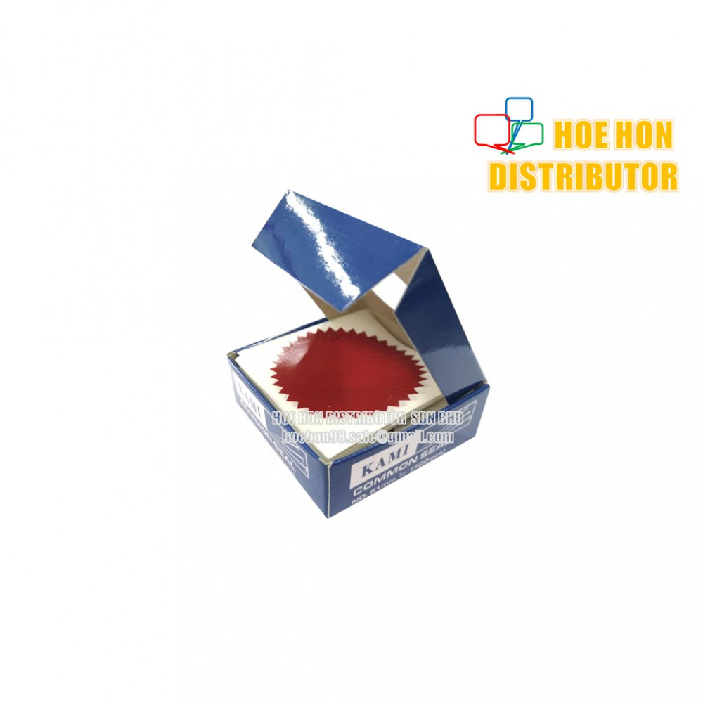 Certificate paper's Common Seal Sticker 50mm / 2 Inch Red Color 100pc