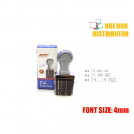 image of Rubber Date Stamp D4 Font Size 4mm