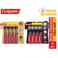 image of Colgate Slim Soft / Slimsoft Charcoal Ultra Soft Bristle Toothbrush / Berus Gigi