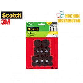 image of 3M Scotch Brown Felt Pads Value Pack Assorted Size 36pc SP846