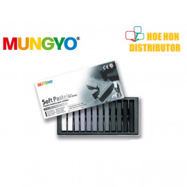 image of Mungyo Soft Pastel For Artist Gray 12 Color (Full Length) MP-12GP