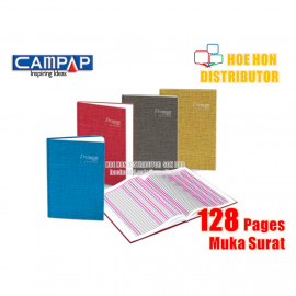 image of Premium by Campap 3 Column Hard Cover Foolscap Account Book F4 128 Page CA 3130