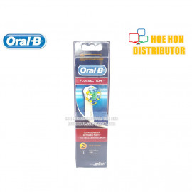 image of Braun Oral B Flossaction Brush Heads 2pcs (Original) Rechargeable Toothbrush