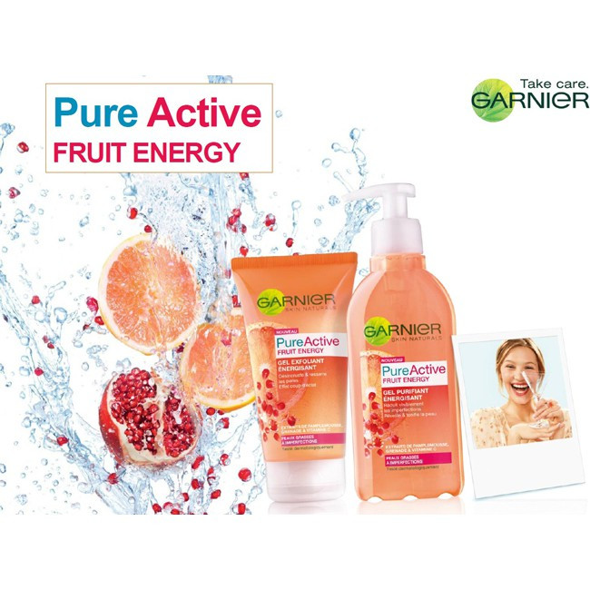 Garnier Light Complete / Pure Active / Sakura Facial Acne Cleanser Foam 100ml