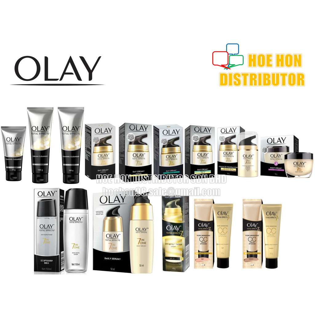 image of Olay Total Effects (7 In One) Cleanser, Cream, Toner, Serum, BB Creme, CC Cream