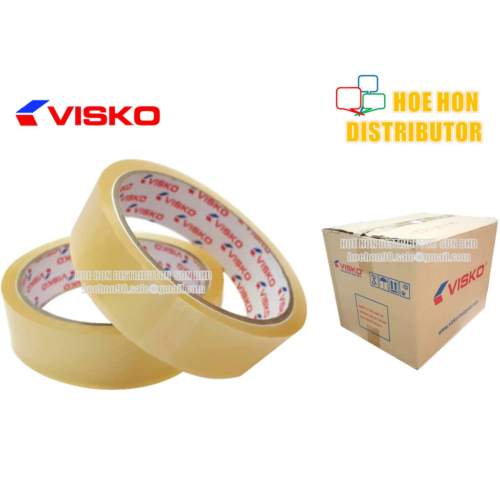 image of Visko OPP Adhesive Transparent Packaging Tape 24mm X 40 Yards / 1 Inch X 36m +