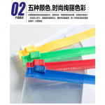 Multipurpose PVC Transparent File Zip Stationery Pencil Bag A3 Large