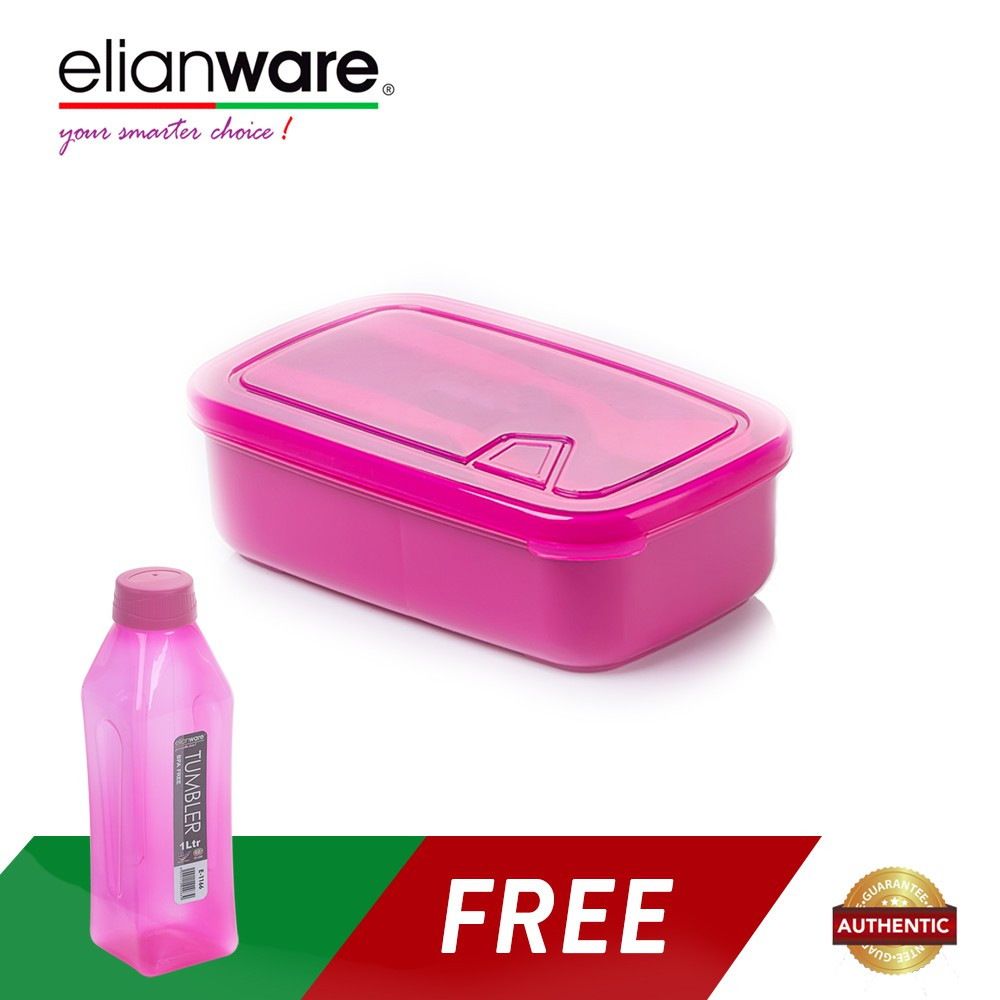 image of Elianware 1 Ltr Water Tumbler FREE Lunch Box with Fork & Spoon