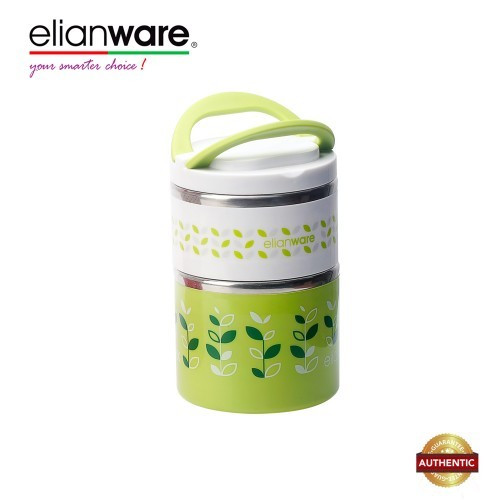 image of Elianware 900ml BPA FREE Dual Layer Food Container Thermal Lunch Box