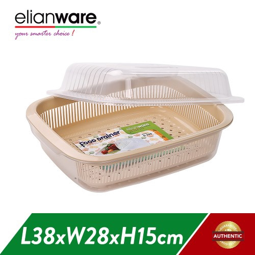 image of Elianware (38cm) Dust Free Home Food Drainer Dish Drainer with Cover
