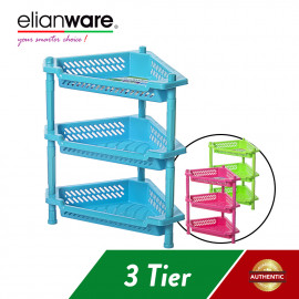 image of Elianware 3 Tier Kitchen Storage Racks Bathroom Shelves Book Shelving Kitchen Organizers Space Savers