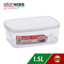image of Elianware 1.5 Ltr Transparent Airtight Food Keeper