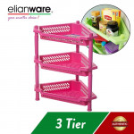 Elianware 3 Tier Kitchen Storage Racks Bathroom Shelves Book Shelving Kitchen Organizers Space Savers