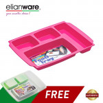 Elianware 4 Compartments Cafeteria Nursery school Food Tray (FREE Cover)