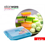 Elianware 3.4 Ltr BPA Free Kuih Muih Serving Tray with Cover