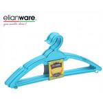 Elianware 6 Pcs Simple Black Durable Clothes Hanger