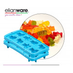 Elianware 2 Pcs Pack Happy Bear Stackable Ice Cube and Jelly Mould BPA Free