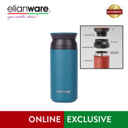image of Elianware 350ml Stainless Steel High Insulation Thermos Vacuum Flask with Bag