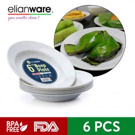 image of Elianware 6'' Marble (6 Pcs Set) Deep Plate Rice Pinggan Plate