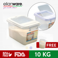 image of Elianware High Quality [BPA Free] Rice Dispenser Food Storage Container Box 10kg