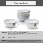 Elianware 6'' Marble Dining Bowl (6 Pcs Set) Big Soup Noodle Mangkuk Bowl