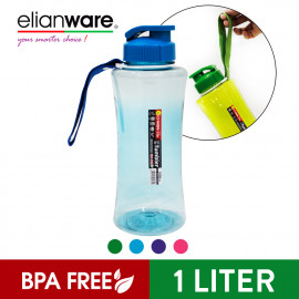 image of Elianware 1000ml Outdoor Strap Portable Hydration Beverage PET [BPA FREE] Bottle