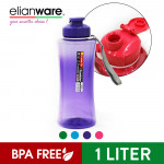 Elianware 1000ml Outdoor Strap Portable Hydration Beverage PET [BPA FREE] Bottle