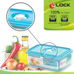 Elianware 100% Airtight Transparent Glass-like Food Storage Containers