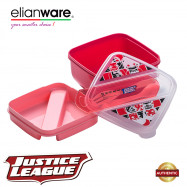 image of Elianware DC Justice League 2 Layer 1.35L Food Container with Spoon & Fork
