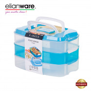 image of Elianware 3 Layers BPA Free Food Keeper Server Multipurpose Storage Airtight Container
