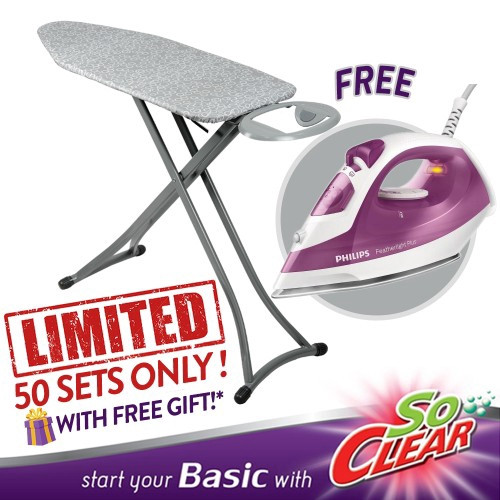 "image of Elianware x SoClear 3 Way Use Mesh Iron Board (38"") FREE Philips Steam Iron"