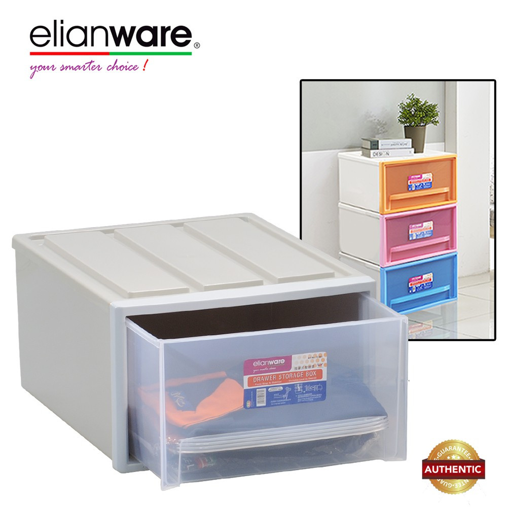 image of Elianware Signature Large Stackable Drawer Storage Box