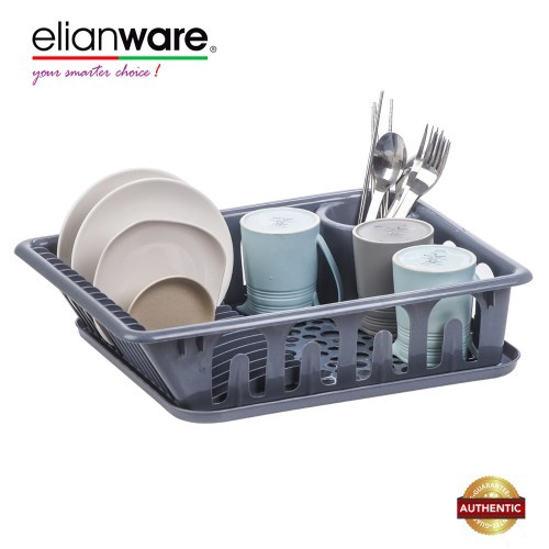 Elianware Marble Design Home Dish Rack Disk Drainer