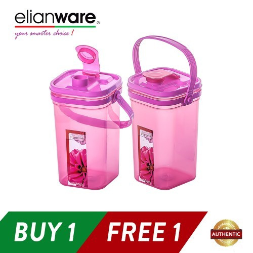 Elianware 1.5Ltr x 2 Square E-Fresh BPA Free Water Tumbler with Handle