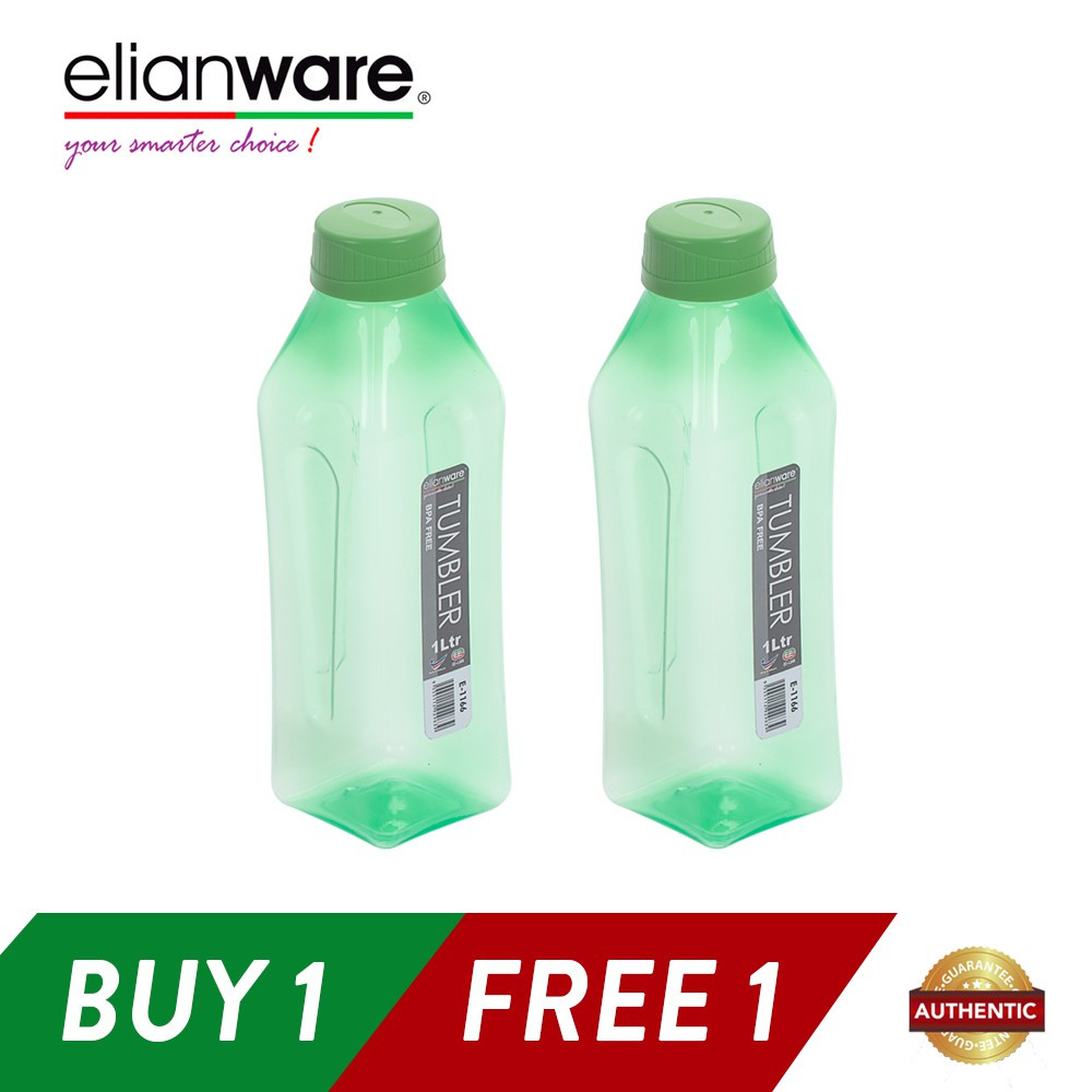 image of Elianware 2x1000ml BPA Free Water Bottle