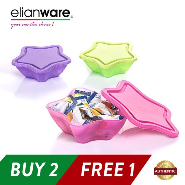 image of Elianware 3 Pcs 500ml Star Bowl Multipurpose Airtight Container