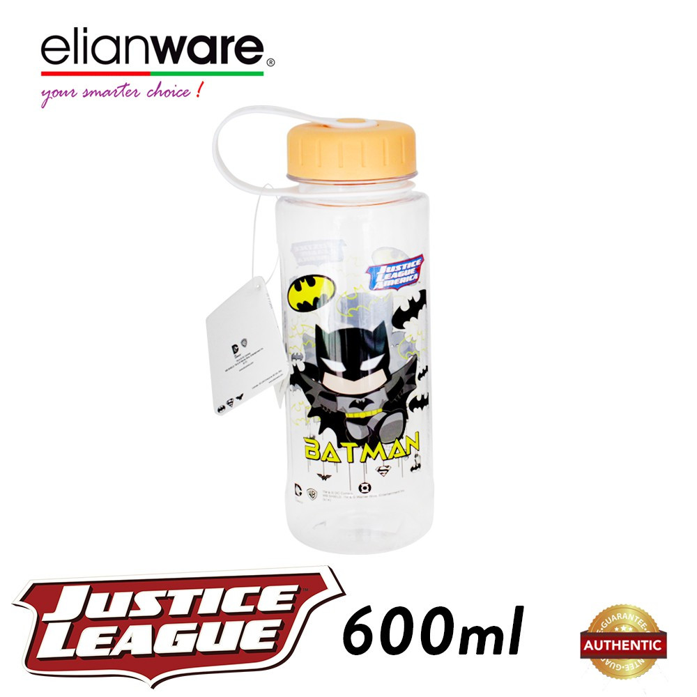 image of Elianware DC Justice League 600ml BPA Free Heros Water Bottle