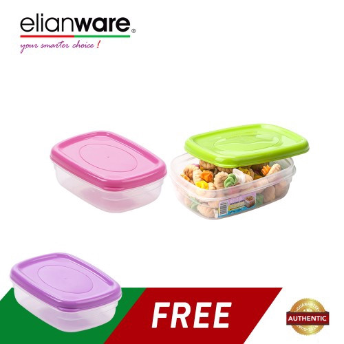 image of Elianware (BUY 2 FREE 1) 330ml BPA FREE Multipurpose Food Keeper