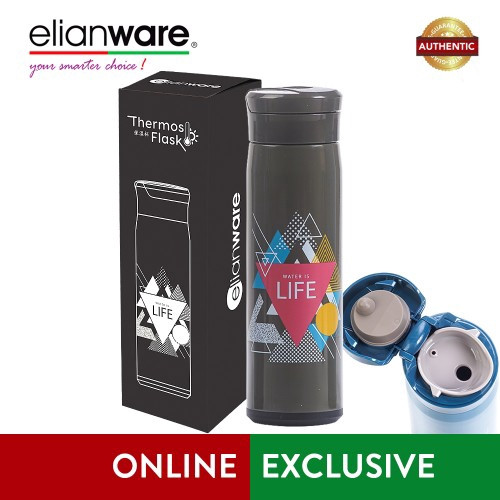 "Elianware 470ml Stainless Steel ""Water is Life"" High Insulation Thermos Vacuum Flask Material : 304 Stainless Steel"