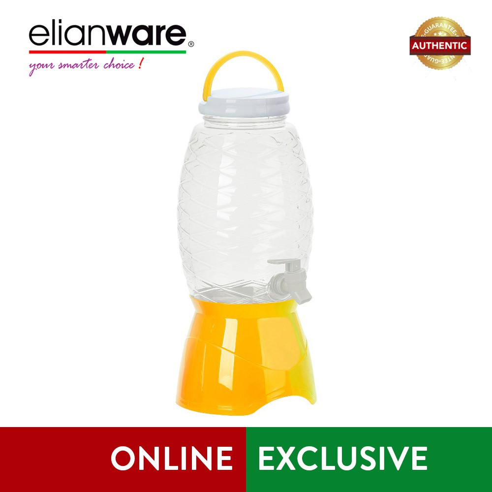 image of Elianware 4.5Ltr Party House Warming Portable No Leak Pineapple Water Dispenser