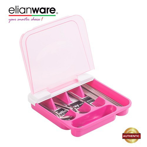 image of Elianware BPA Free Dust Free Cutlery Tray With Cover