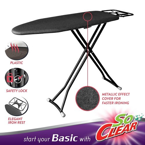 "image of Elianware x SoClear Classic Plastic Iron Board (36"") Ironing Board"
