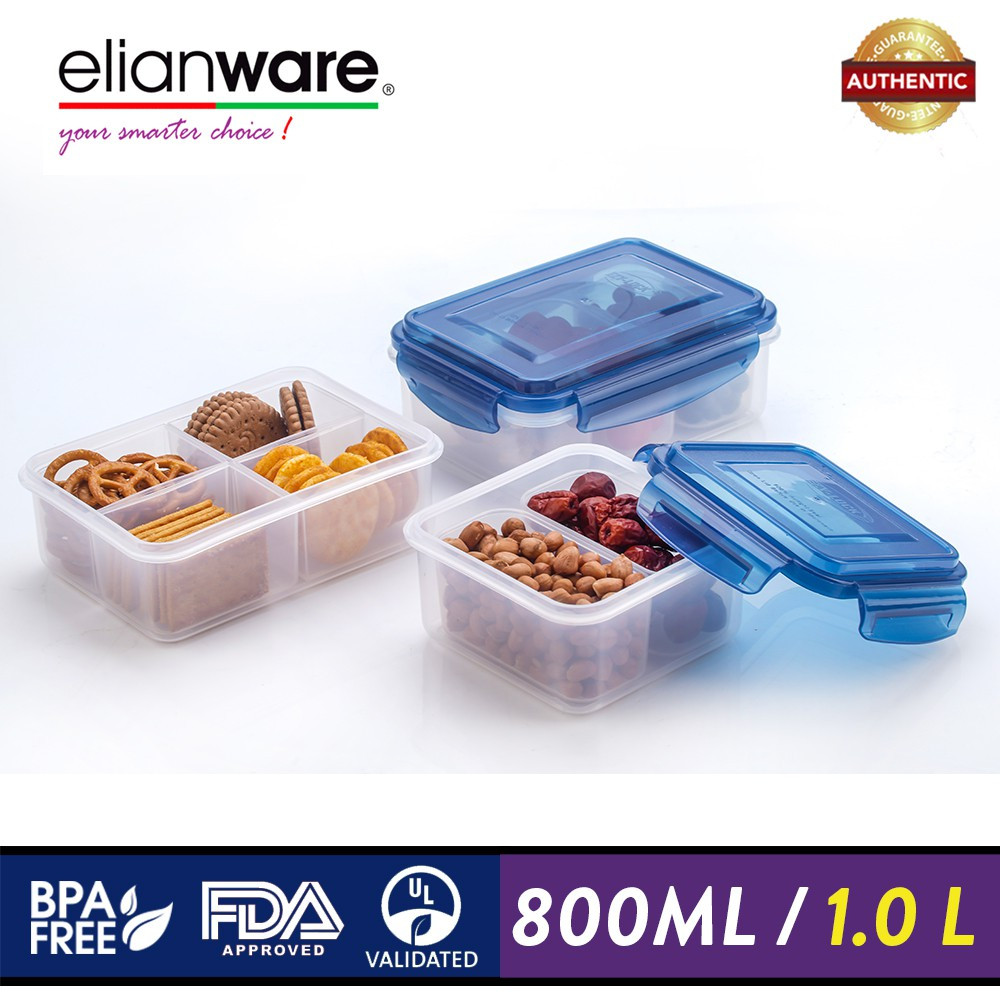 image of Elianware Ezy-Lock PREMIUM SERIES 100% Airtight Microwavable Food Containers
