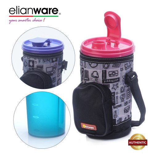 image of Elianware E-Fresh 1.1L Water Bottle Tumbler With Bag Pocket