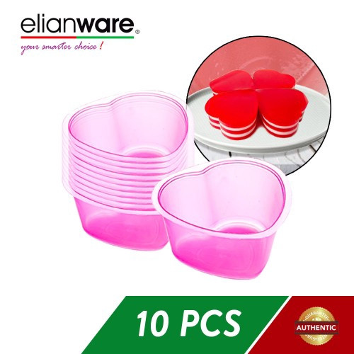 image of Elianware 10 Pcs Jelly Cup Jelly Mould Multicolor BPA FREE
