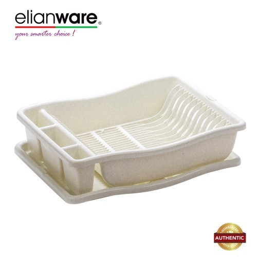 image of Elianware Marble Design Home Dish Rack Disk Drainer