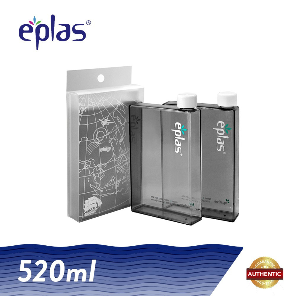 image of eplas 520ml BPA Free Creative A5 Size Paper Water Bottle
