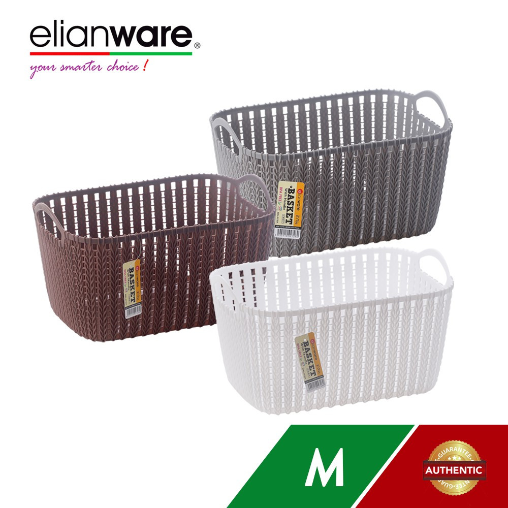 image of Elianware Modern Rectangular Basket with Handle